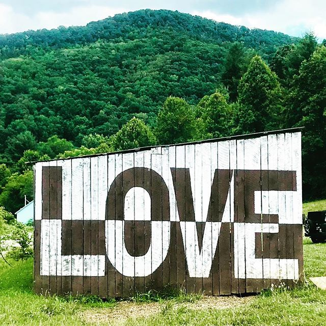 Asheville area Farm Tour - the love barn at Franny's Farm