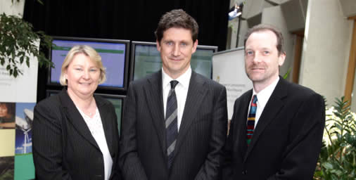 Seen here at the launch of www.tvlicence.ie is: Mary Harrihill – Manager of TV License Services in An Post, Eamon Ryan – Minister of Communication, Energy and Natural Resources and Philip Deane of Grapevine Solutions Ltd.