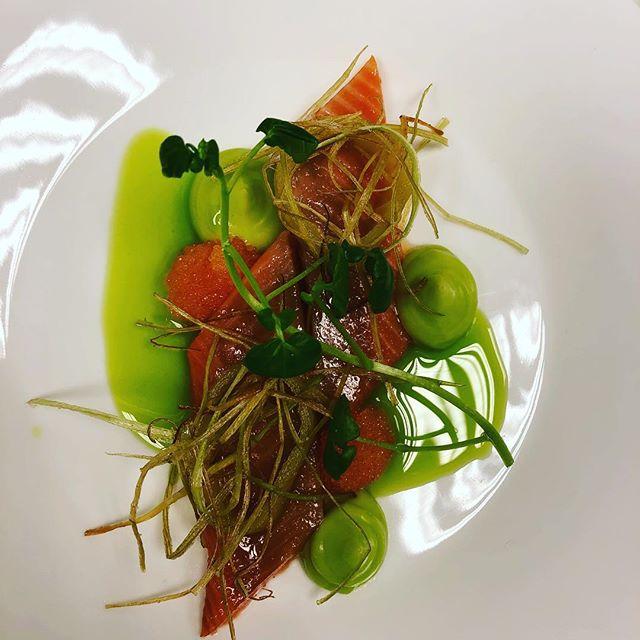 Arctic char in terragon  #catering #gastronomia #cheflife #goodtobeanissemann