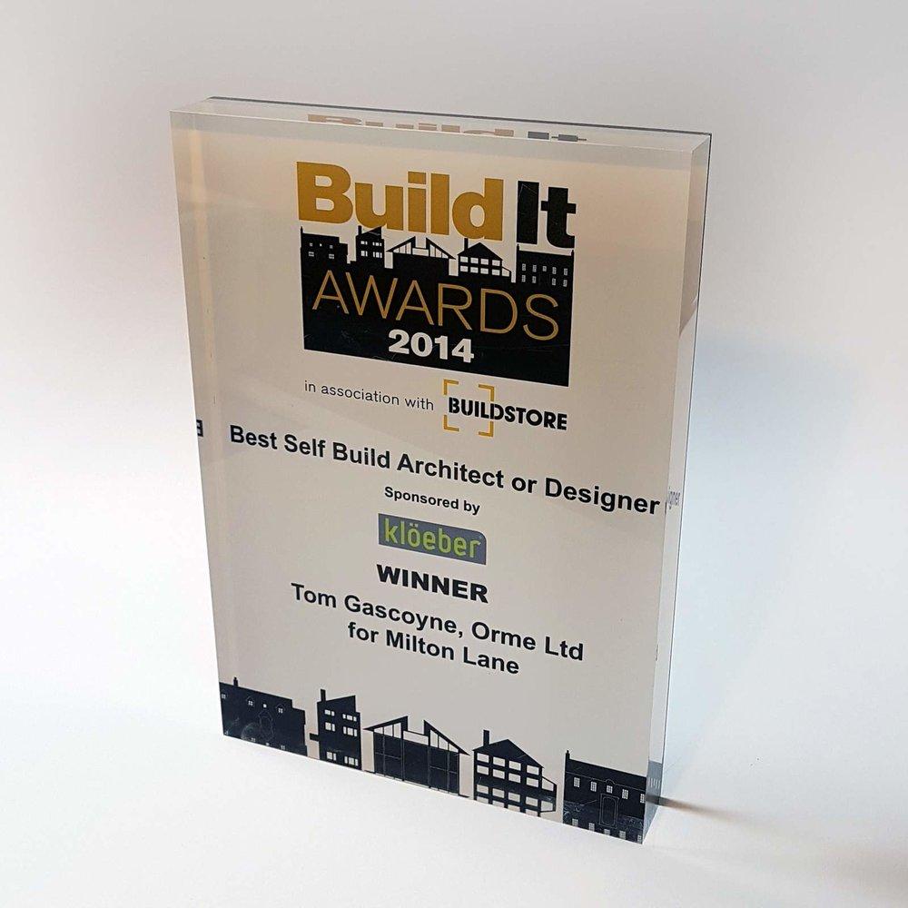 Winner - Best Self Build Architect 2014 - Winner of the Best Self Build Architect or Designer at the 2014 Build It Awards