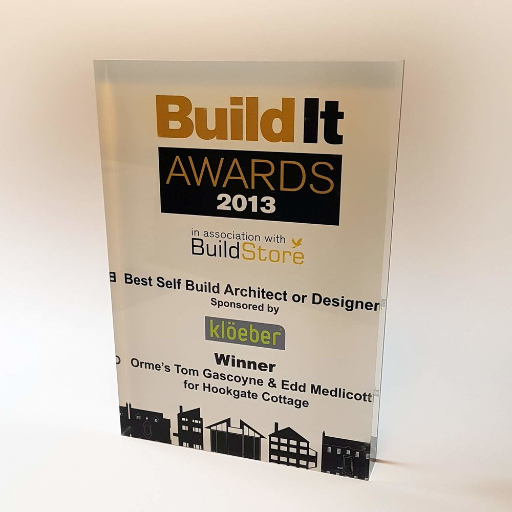 Winner - Best Self Build Architect 2013 - Winner of the Best Self Build Architect or Designer at the 2014 Build It Awards 2013