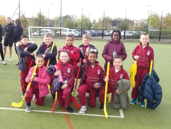 Year 4 boys and girls competed in the quick sticks hockey competition.