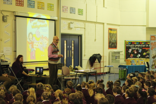 We had an extra special visitor come to see us today, award winning author and illustrator Nick Sharrat.