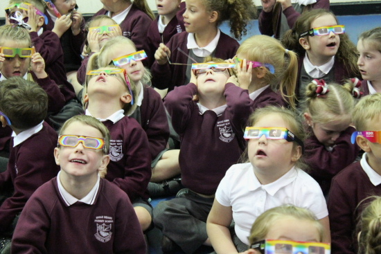 We saw the colours of rainbow with these special glasses