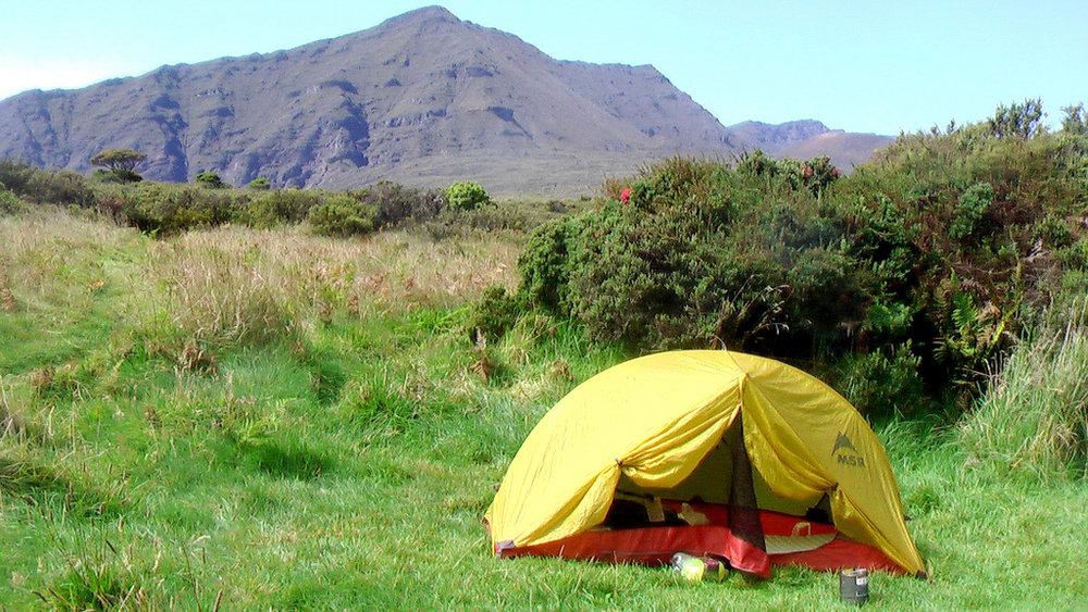 tent - Kaupo Gap - Haleakala volcano, Maui.jpg