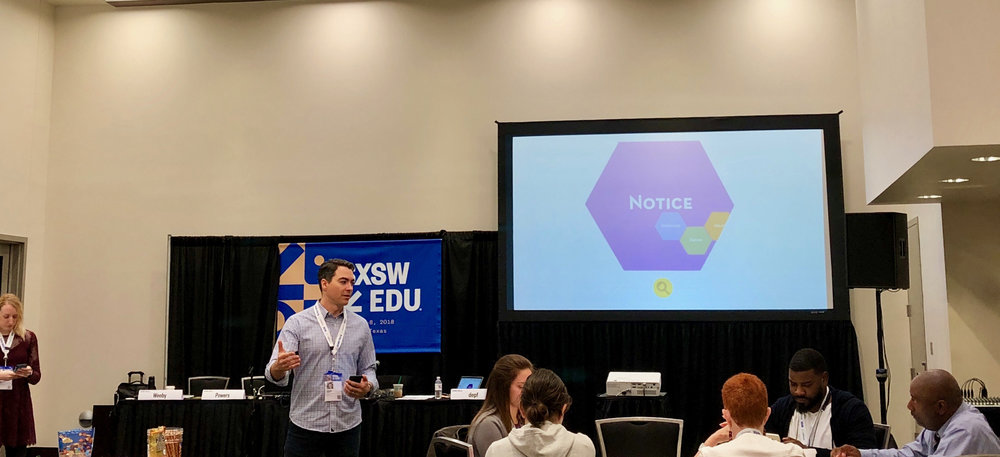 Bellwether's Jason Weeby presenting on introducing some human-centered design principles into policy design at SXSWEDU