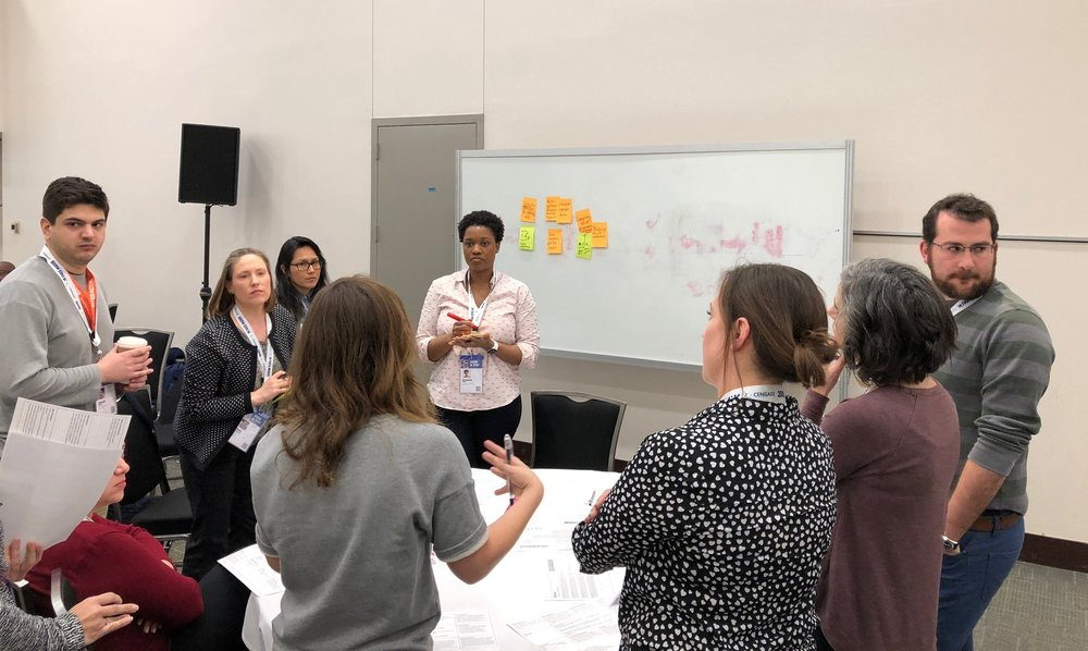 Group training session on what policy making can learn from human-centered design