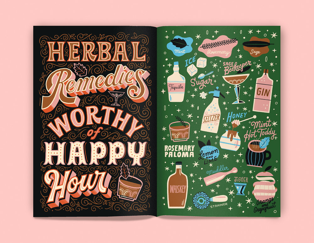 Herbal Cocktail Sampler by Mary Kate McDevit