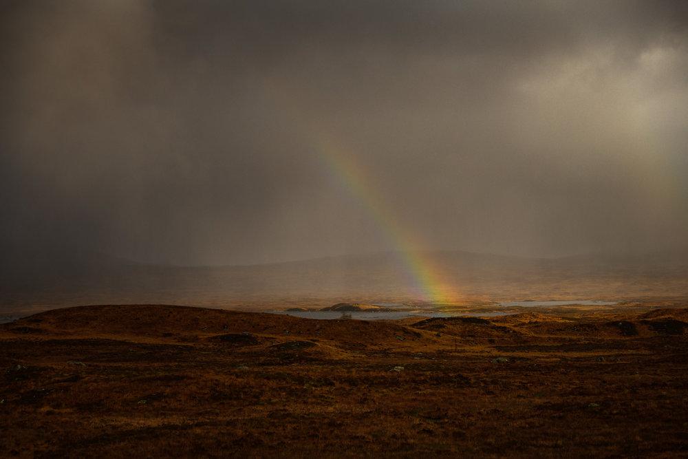 Rainbow over Rannoch Moor
