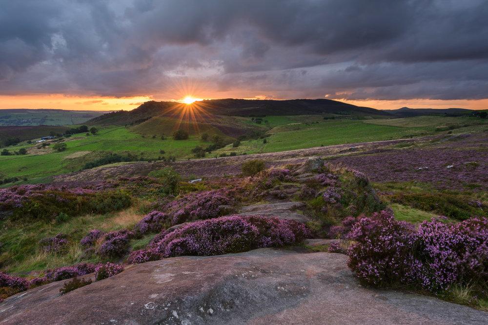 Sunset from Ramshaw Rocks