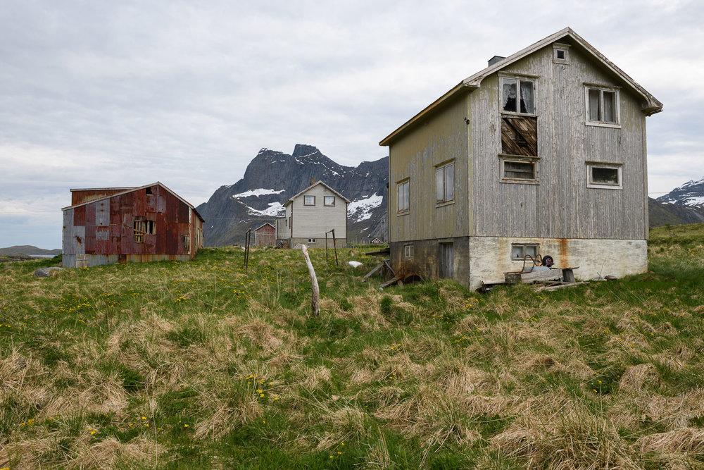 Wooden Buildings in the Lofoten Islands