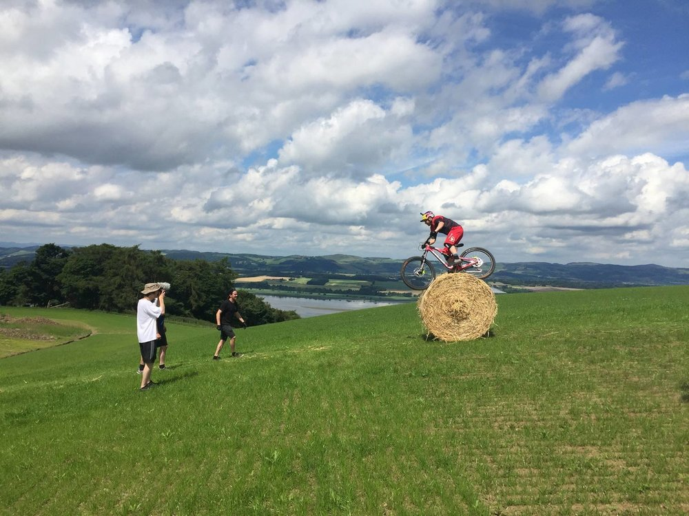 The Haybale took a lot of attempts for Danny. It was arguably worse for the boys who had to push it back up the hill every time though!!