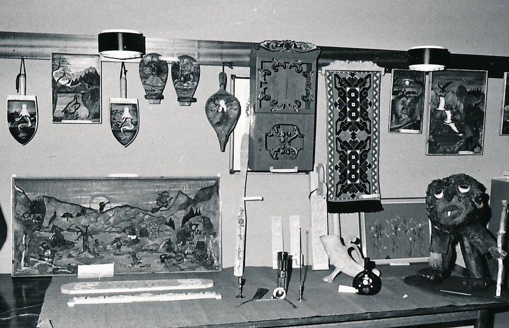 Fra kunstutstillinga 1975