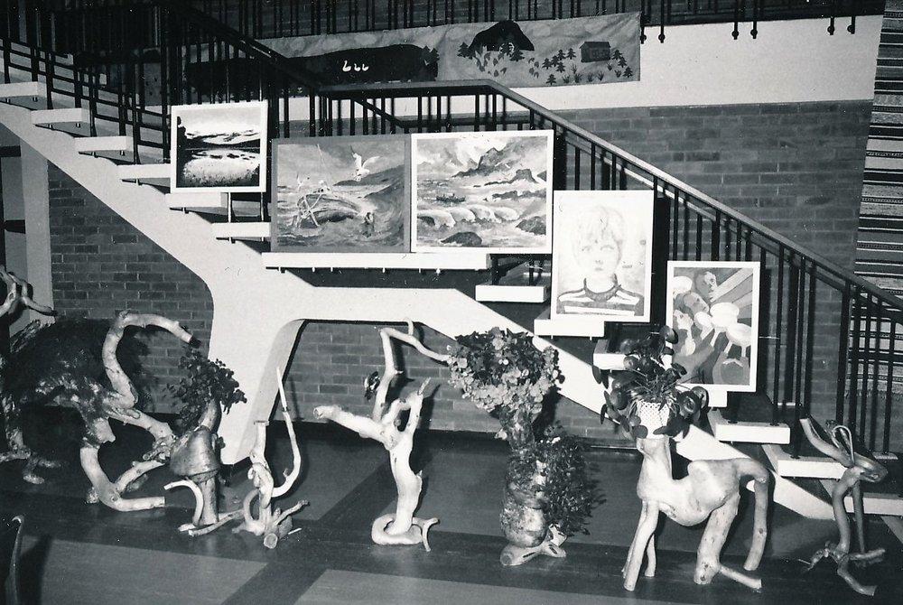Fra kunstutstillinga 1975.