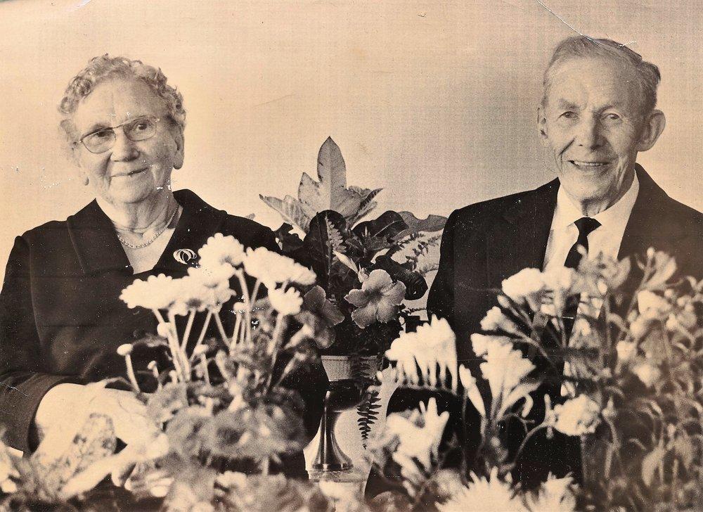 Ekteparet Tora og Knut Børø på hans 90-årsdag i 1981.