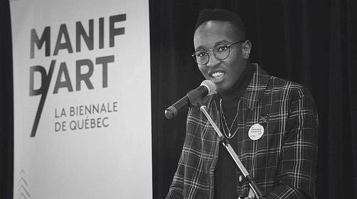 Fier ambassadeur de @manifdart 9, dans ma ville natale qui plus est. 🖤 •⠀⠀⠀⠀⠀⠀⠀⠀⠀ Manif d'art 9, c'est une sublime biennale d'art actuel qui se tient à Québec du 16 février au 21 avril 2019, sous le thème «Si petits entres les étoiles, si grand contre le ciel». ✨ •⠀⠀⠀⠀⠀⠀⠀⠀⠀ Venez, venez, venez! •⠀⠀⠀⠀⠀⠀⠀⠀⠀ 📸 @mnbaq 📸 @lisebreton