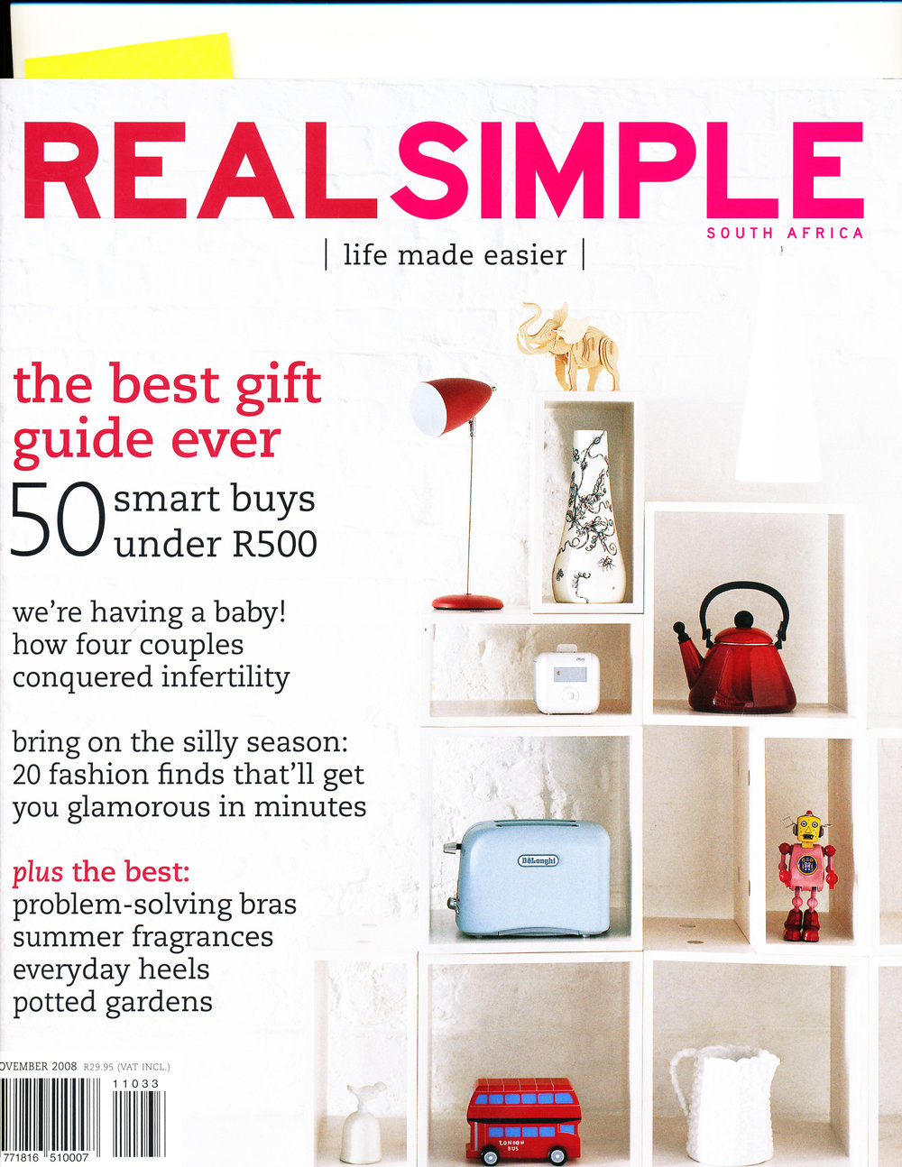 REAL SIMPLE NOV 2008