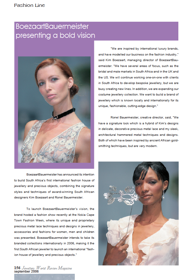 JEWELLERY WORLD REVEIW MAGAZINE SEP 2006