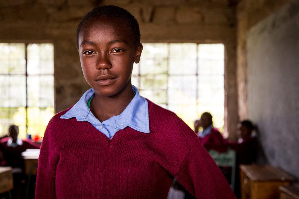 Secondary school student, Kenya