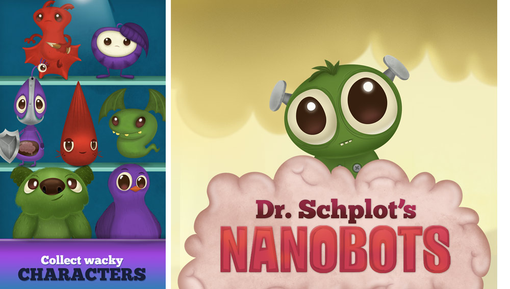 Dr. Schplot's Nanobots— A new kind of Puzzle RPG for iPhone and Android