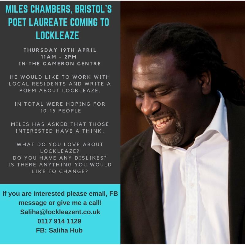 Miles Chambers, Bristol's POet Laureate coming to Lockleaze (1).jpg