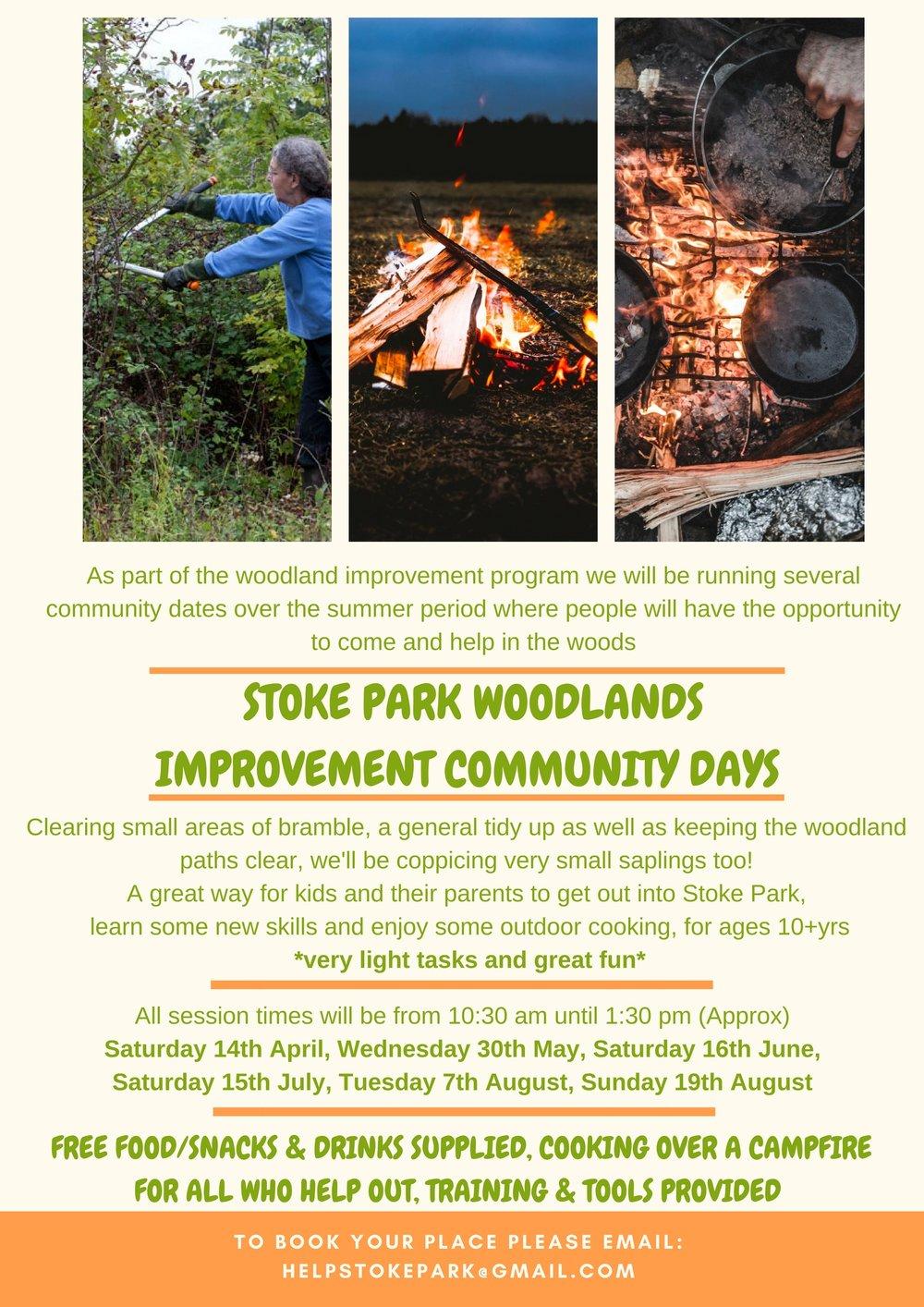 Stoke park woodlands improvement community days.jpg