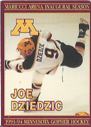 Joe Dziedzic University of Minnesota Hockey