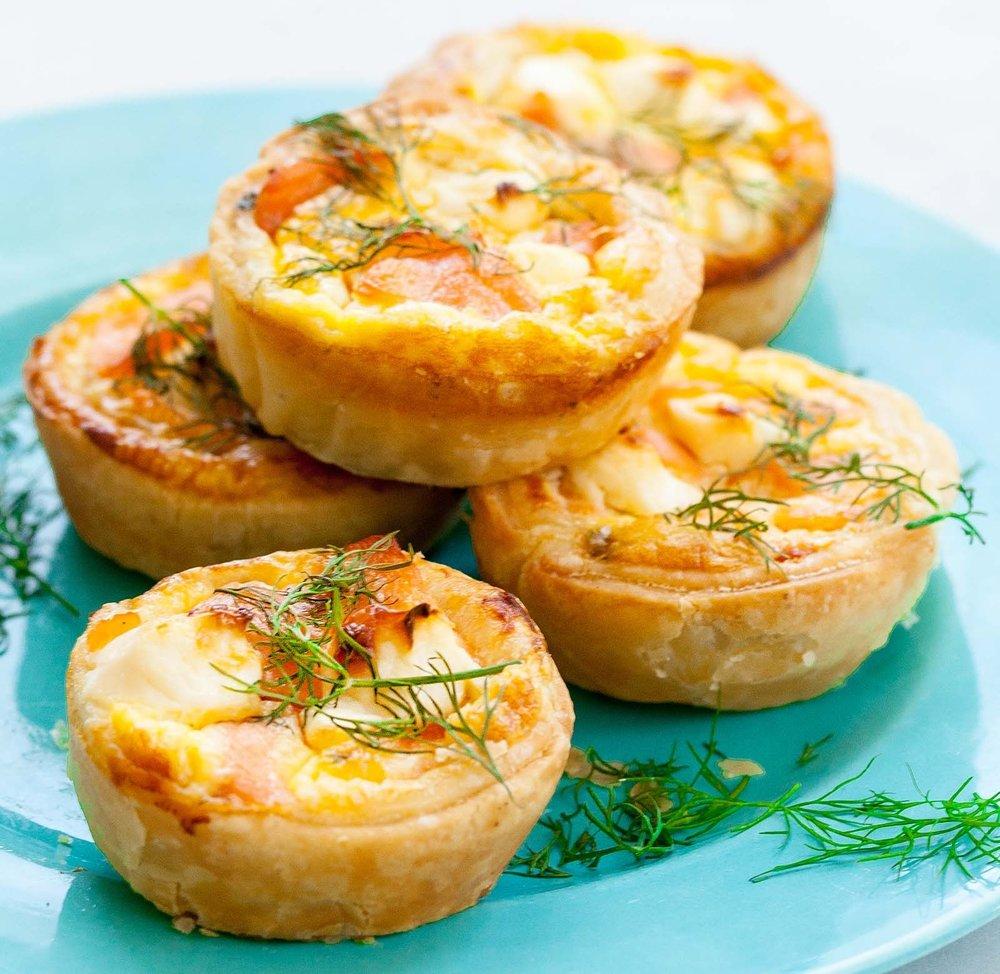 Mini-Quiches - Creamy and cheesy quiches