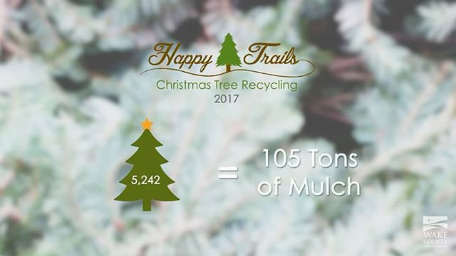 Wake County: #Recycle your Christmas tree this year for a #lowwasteholiday !  1. Remove any decorations 2. Drop off your tree with Happy Trails Christmas Tree Recycling (see link for locations) 3. They'll turn it into mulch trails for our @wakegovparks !  http://www.wakegov.com/recycling/division/Pages/happytrails.aspx