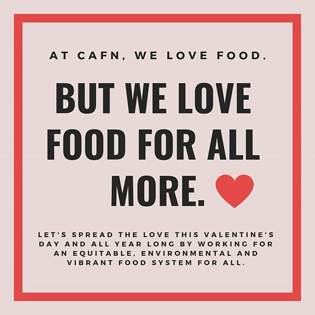 Food's better when it's shared, after all. Happy #Valentines2019, CAFN! ♡