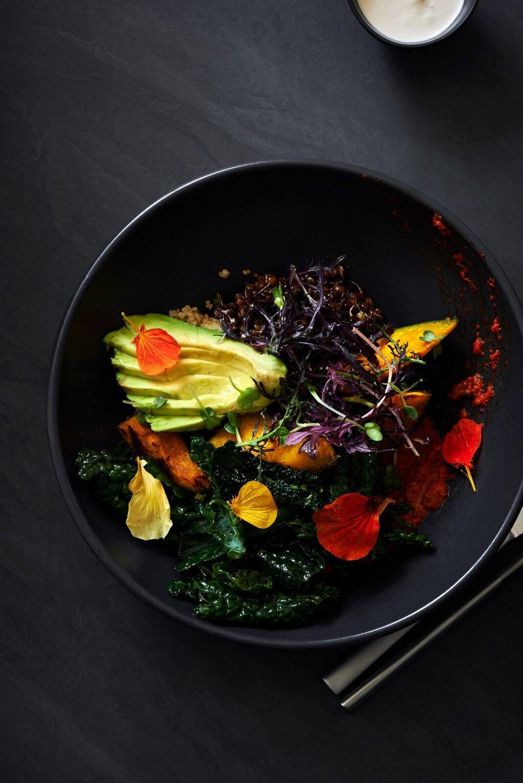 PLANT BOWL. Sprouted Lentils. Quinoa. Kabocha Squash. Tuscan Kale. Preserved Lemon Tahini. Piquillo Romseco_preview.jpeg