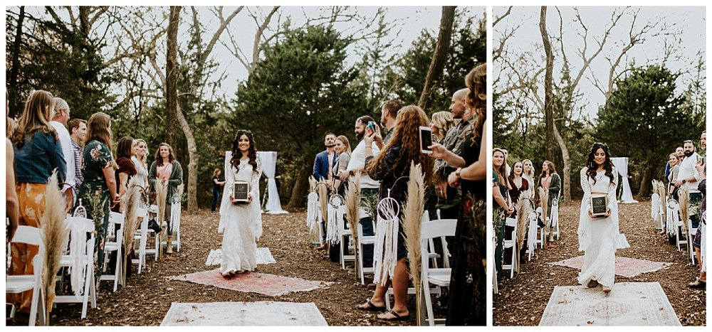 boho-bride-walks-down-aisle-with-dads-urn