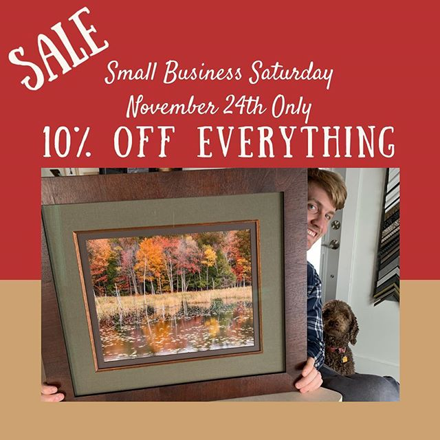 Come see us on Saturday! We will be open from 10-2.  Custom framing makes the perfect gift and now is the time to guarantee holiday delivery!  #smallbusinesssaturday #pictureframing #framing #customframing #geneseo #geneseony #littlelakesframing