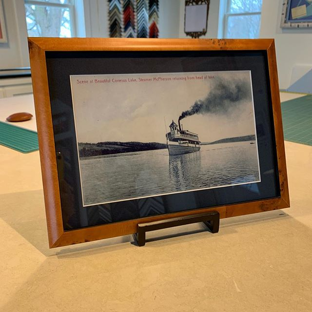 Looking for a great local Christmas gift?  We have a large variety of framed Conesus Lake postcard reproductions in stock and ready to go. Come on in and check them out! #conesuslake #framing #customframing #custompictureframing #geneseony #geneseo #littlelakesframing