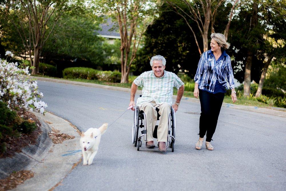 David and Beverly Mayo Campaign walking dog.jpg