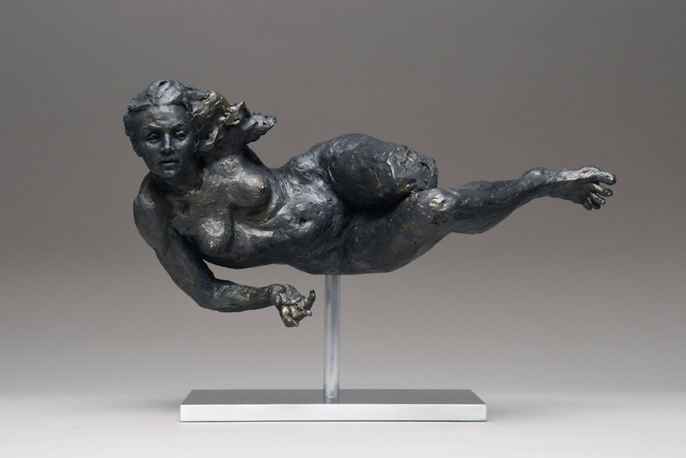 """Luft""  Winner of the top award for sculpture, ""Barbara Newington Award Traditional Sculpture"" juried by Stephanie L. Herdrich of the Metropolitan Museum of Art at the American Artists Professional League's 2018 Exhibit at the Salmagundi Club in New York City."