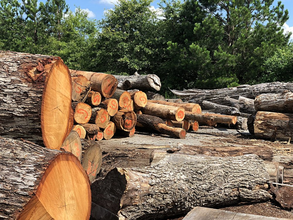 The logs were taken to Eutree's mill just outside Atlanta for materials planning and milling.