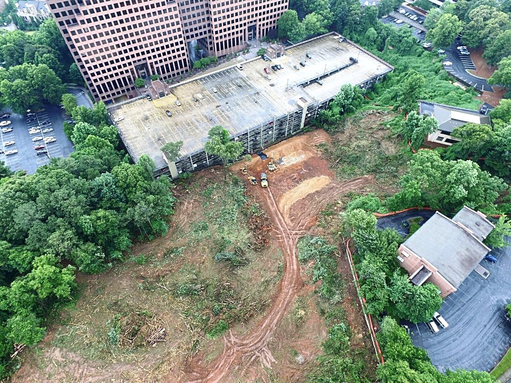 Gables worked closely with David Dechant and local Atlanta grading company to recover, store and preserve the trees from the site.