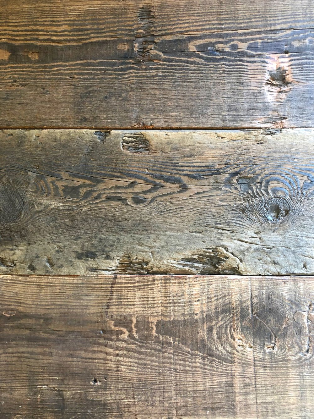 Antique Heart Pine Beam Faces
