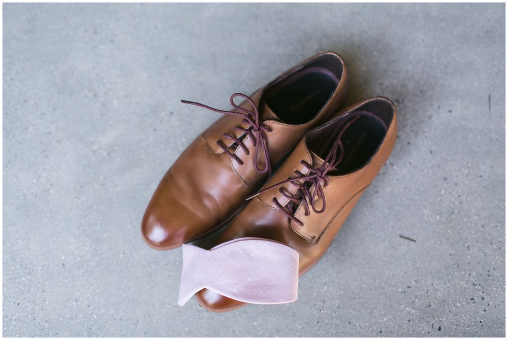 Copy of elegant homestead wilshire ranch wedding groom shoes pink bow tie carrie vines