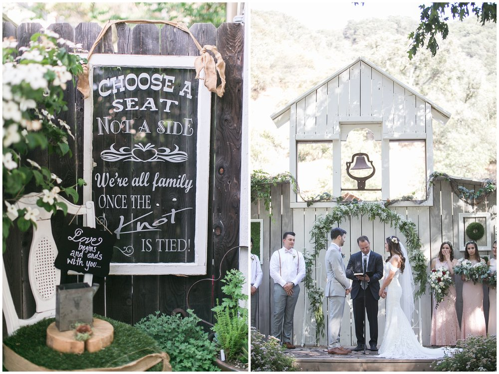 Copy of elegant homestead wilshire ranch wedding ceremony custom sign carrie vines