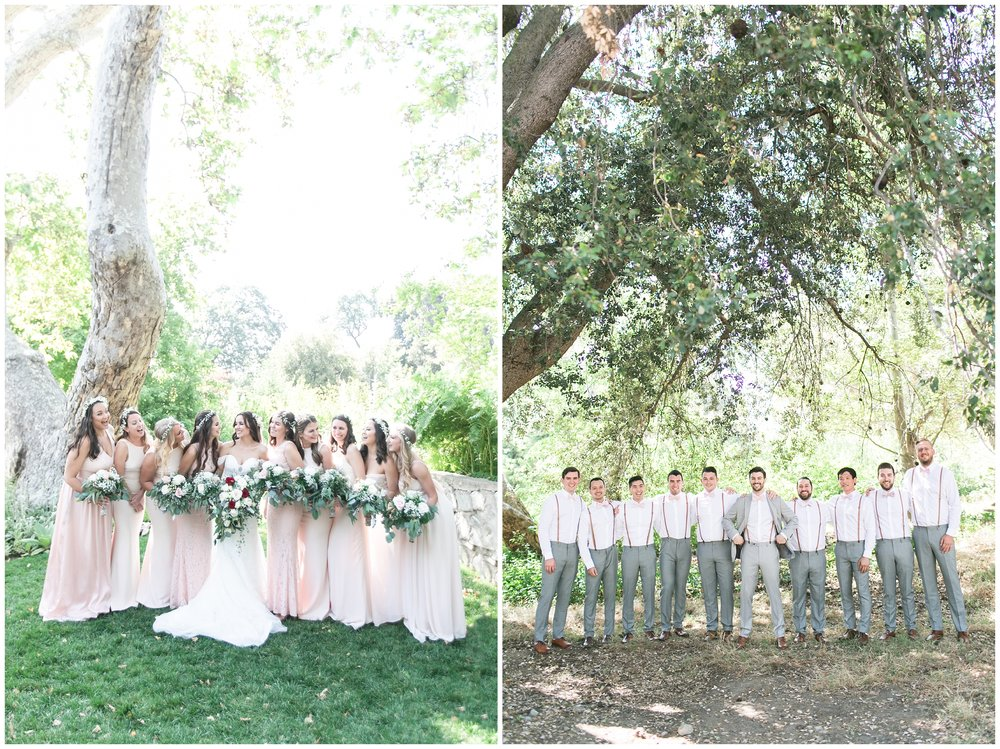 Copy of elegant homestead wilshire ranch wedding wedding party portraits carrie vines