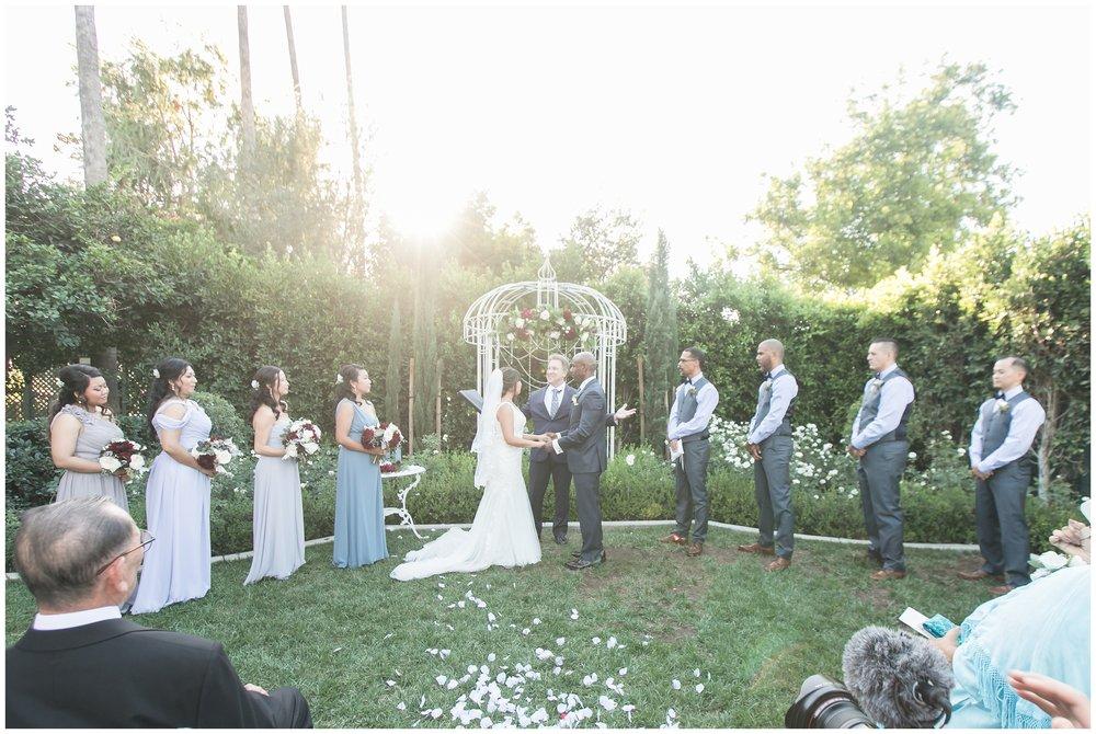 christmas house inn and garden wedding ceremony carrie vines
