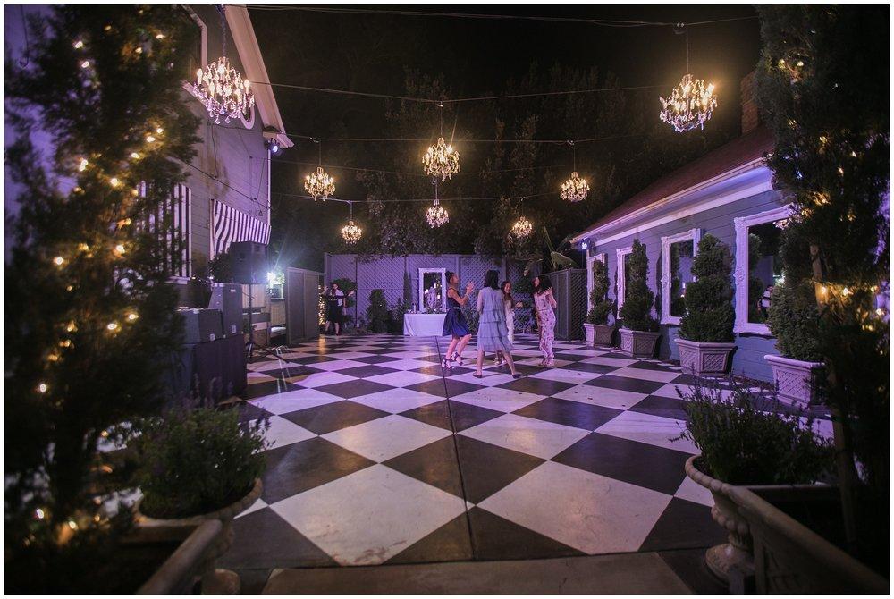 christmas house wedding dance floor chandeliers carrie vines