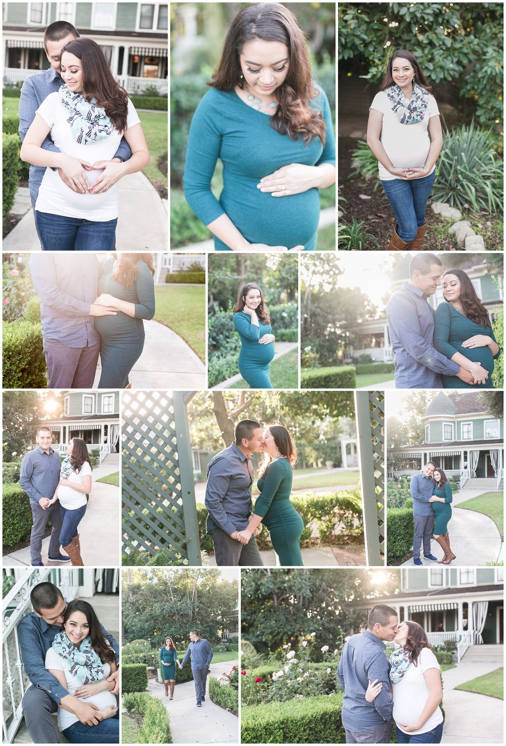 garden maternity session christmas house inn and gardens carrie vines southern california photographer portrait photography