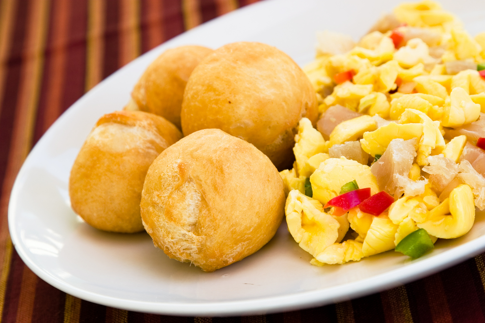 Saltfish + Ackee with Dumplings
