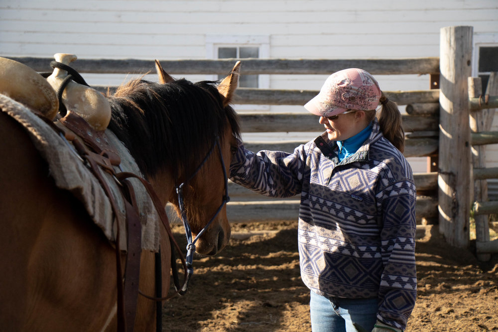 amber rose mason | horse trainer | alder, montana | ruby dell ranch