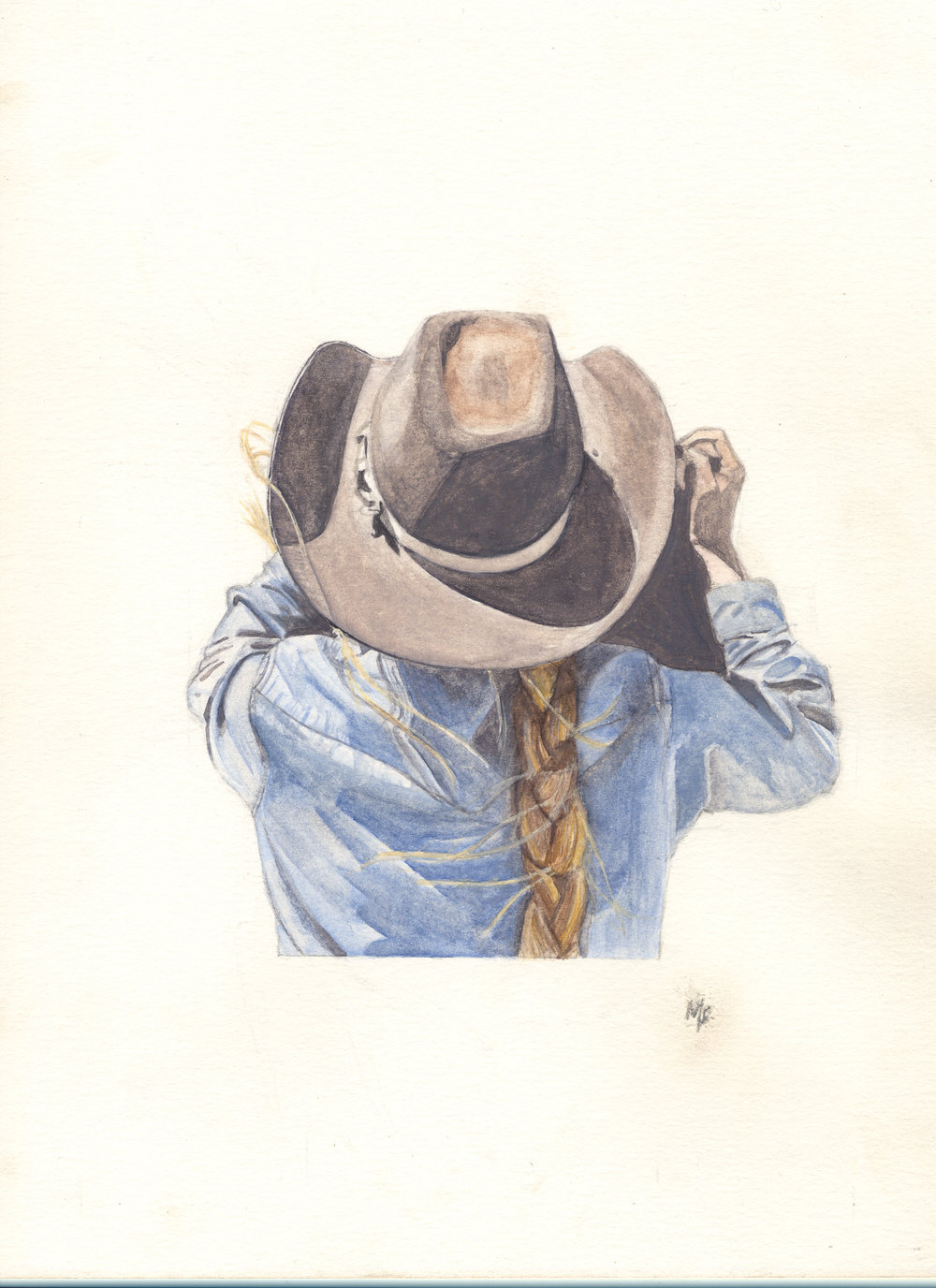 Cora (quick Release) | Women of the west | watercolor series by western artist Melissa DiNino | montana