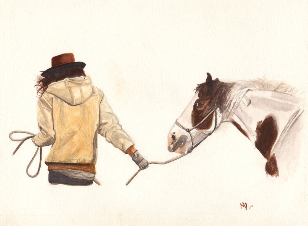 robin | Women of the west | watercolor series by western artist Melissa DiNino | montana