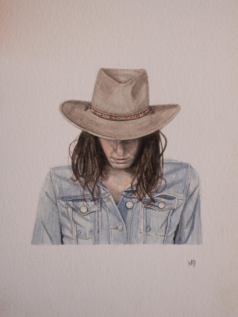 Georgia | Women of the west | watercolor series by western artist Melissa DiNino | montana